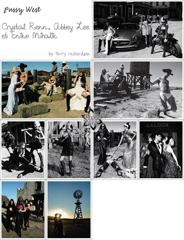 . Daphne Groeneveld & Tom Ford ■■ Vogue Paris Décembre 2010/Janvier 2011 by Mert & Marcus.