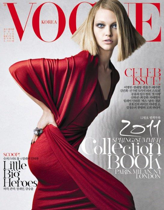 . Sasha Pivovarova ■■ Vogue Corée Décembre 2010.