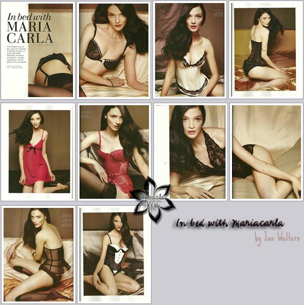 . Mariacarla Boscono ■■ H&M Magazine Winter 2010 | Waouh c'est sublime et très festif!Merci à sublime-natalia pour l'info et les scans!