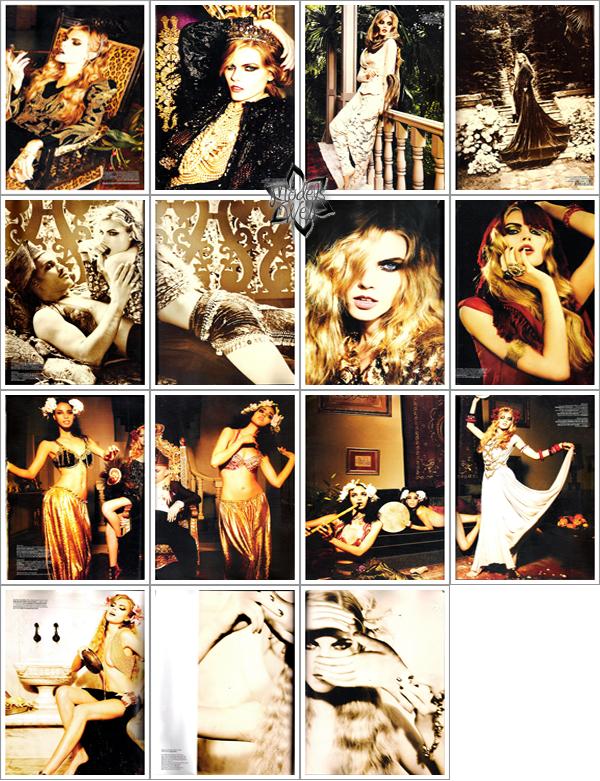 . Maryna Linchuk ■■ Vogue Turquie Décembre 2010 by Ellen von Unwerth    Génialissime!.
