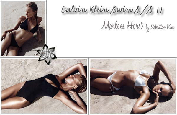 . Marloes Horst ■■ Calvin Klein Swim S/S 11Les maillots sont sublimes!