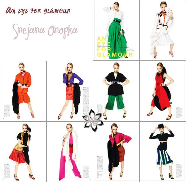. Karen Elson | Vogue Nippon Février 2011C'est coloré et plutôt glamour
