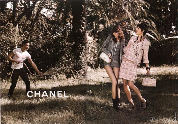 ° Freja Beha, Stella Tennant & Baptiste Giabiconi   Chanel S/S 2011Magnifique! Congrats Karl!