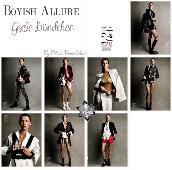 . Gisele Bündchen  | Vogue Chine Février 2011Simple et frais