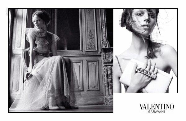 . Freja Beha, Caroline Brasch-Nielsen & Julia Saner | Valentino S/S 2011 by David SimsAuthentique