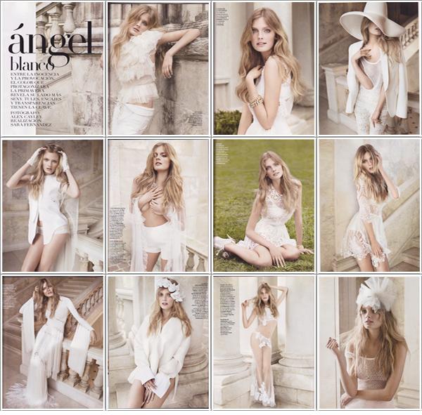[Couverture & Editorial] Constance Jablonski | Vogue Espagne Février 2011