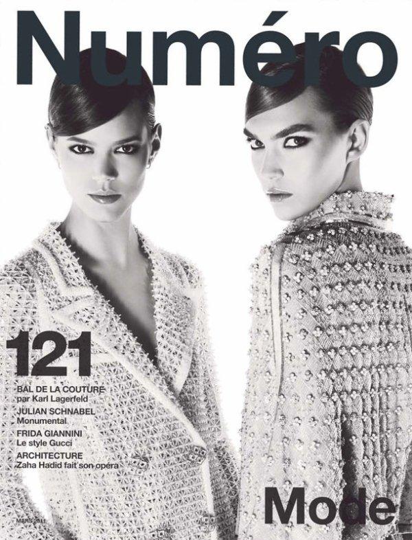 Freja Beha & Arizona Muse | Numéro #121 Mars 2011 by Karl Lagerfeld