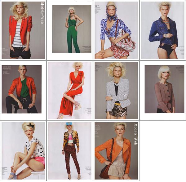 Edita Vilkeviciute | H&M Magazine Printemps 2011 by Camilla Akrans