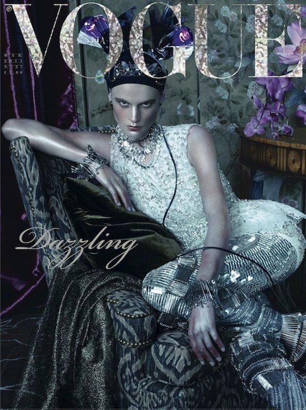 Saskia de Brauw | Vogue Italie Mars 2011 by Steven Meisel