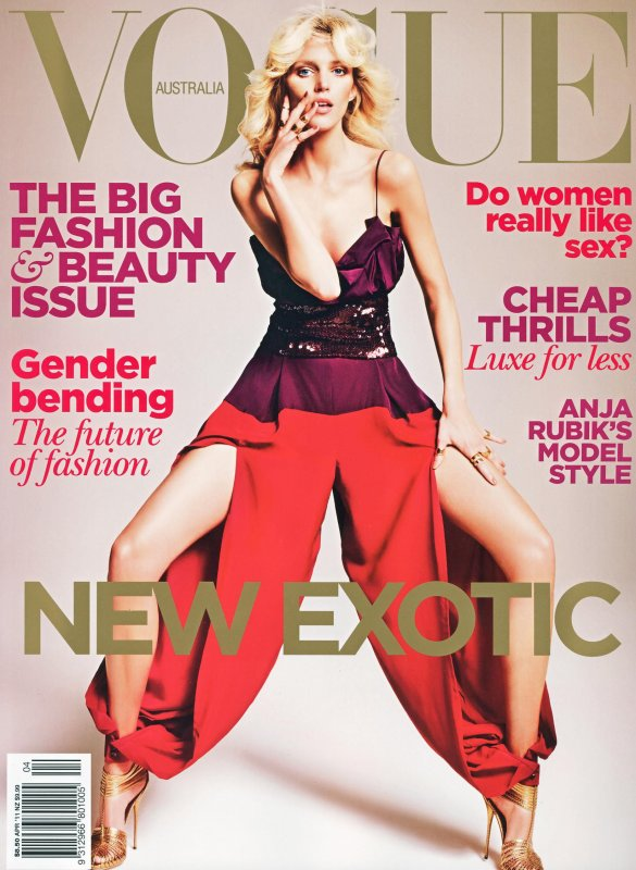 Anja Rubik | Vogue Australie Avril 2011
