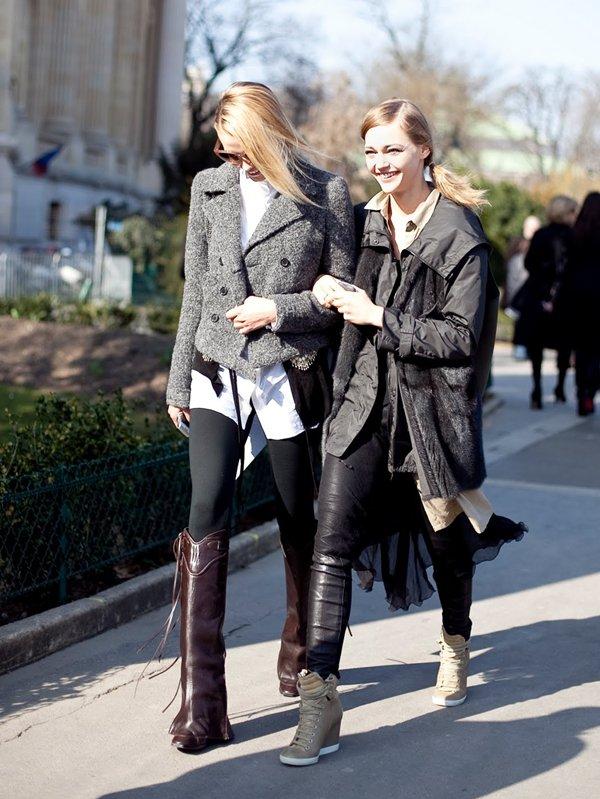 . Model's Street Style F/W 2011.