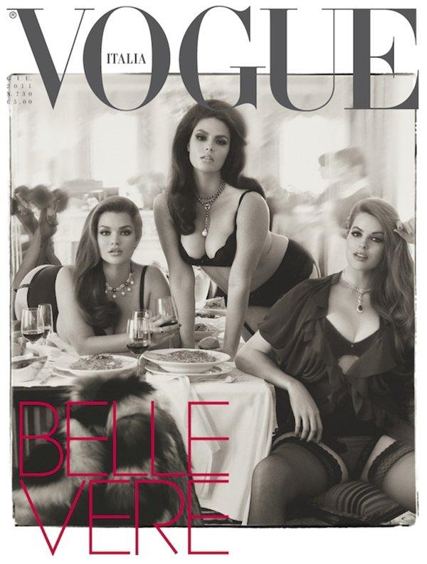 Candice Huffine, Tara-Lynn & Robyn Lawley | Vogue Italie Juin 2011