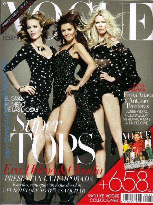 Eva Herzigova, Helena Christensen & Claudia Schiffer | Vogue Espagne Septembre 2011