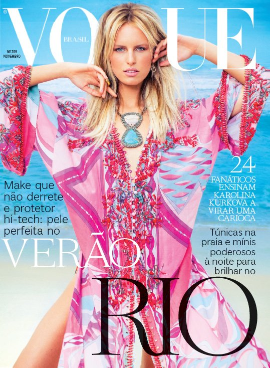 Karolina Kurkova pour le Vogue Brésil