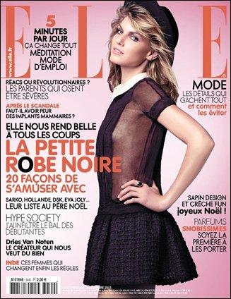Elle France 2 Décembre 2011 | Angela Lindvall