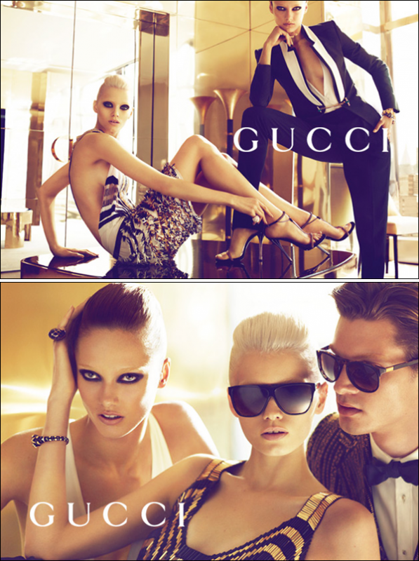 Gucci S/S 2012 : Abbey Lee Kershaw & Karmen Pedaru