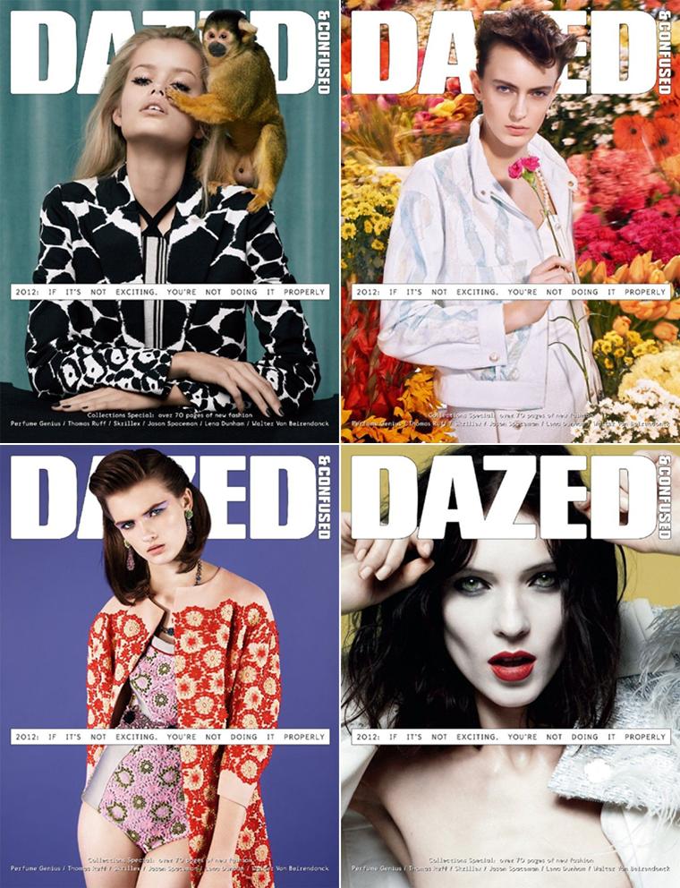 Dazed & Confused Mars 2012 | Frida Aasen, Eronja Ala, Kati Nescher & Lara Mullen