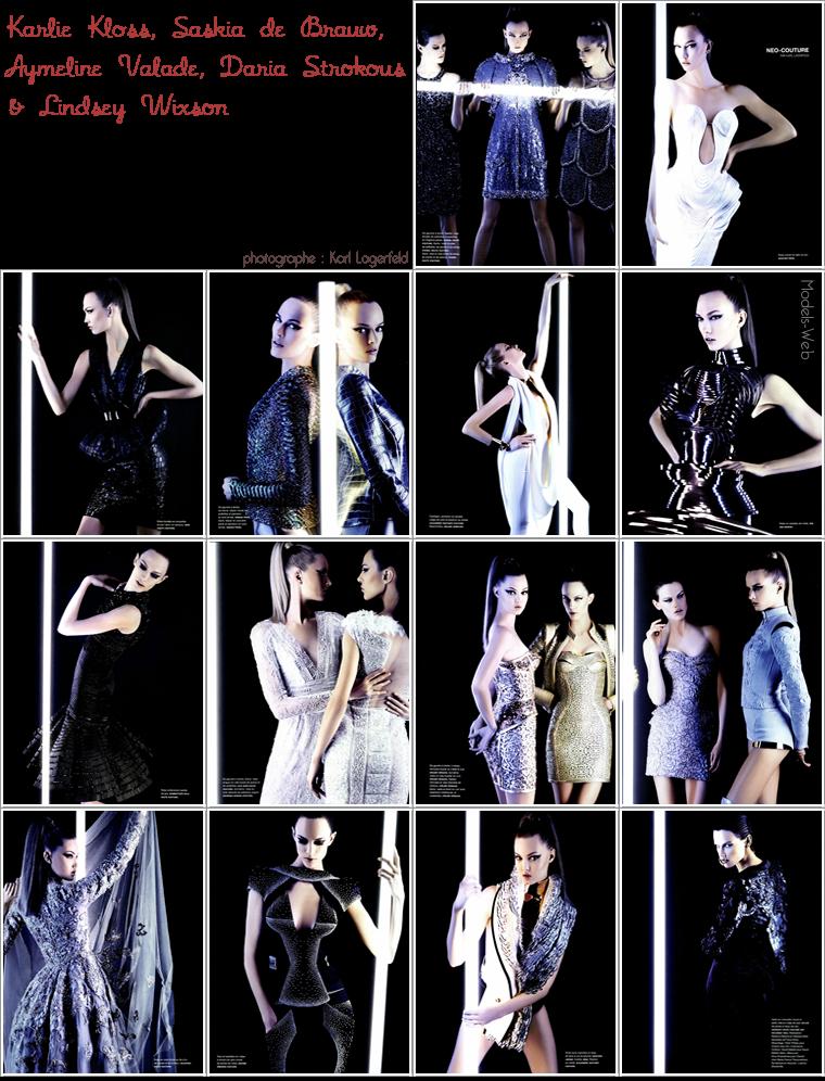 Numéro #131 Mars 2012 | Karlie Kloss, Saskia de Brauw, Aymeline Valade & Daria Strokous