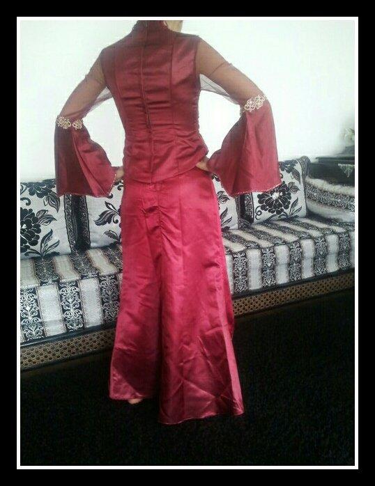 Robe Orient Bordeau