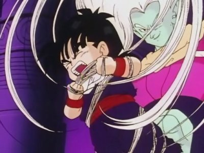 Satan Petit Coeur, Sangohan et Krilin VS Garlic JR et ses sbires