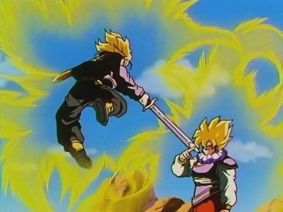Sangoku VS Trunks