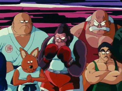 Participants au tournoi des arts martiaux