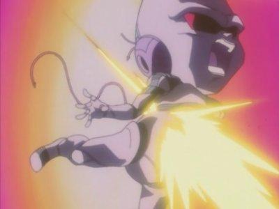 Trunks, Sangoku et Pan VS Le Bébé Mutant