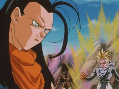 Végéta, Sangohan, Sangoten, Trunks et Oub VS Super C-17