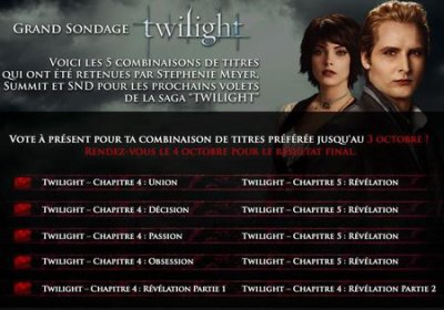 Titre pour Breaking Dawn