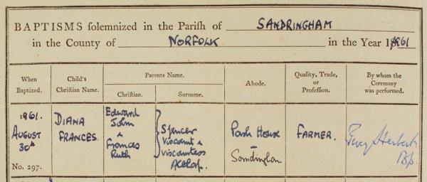 30 Aout 1961 _ Baptême de Diana