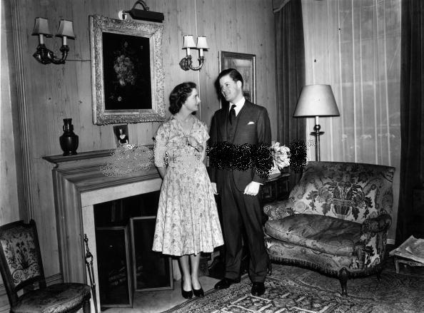 Viscount spencer et sa fiançée Lady Frances Fermoy