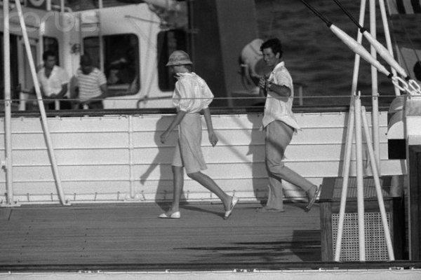 """Diana & Charles , Lune de Miel """" Britannia *  Port Saïd  """" - Aout 1981 _ Suite"""