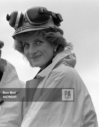 Diana , Princess of Wales - BP Forties' Charlie Platform Tour , le 03 septembre 1985