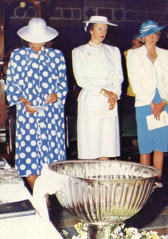 Diana marraine de Philippos de Gréce _ 10 juillet 1986