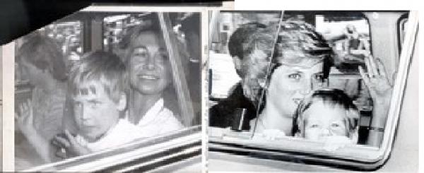 Diana & Charles ,les enfants à  Mallorca _  Aout 1986