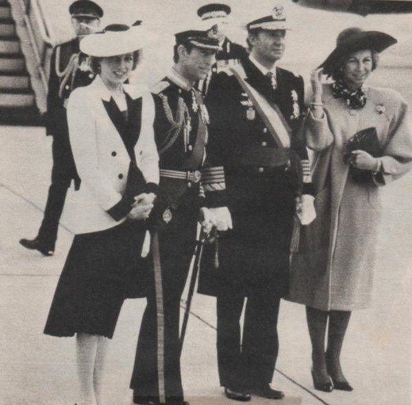 Diana & Charles , King  Juan Carlos & Queen Sofia of Spain  / Suite