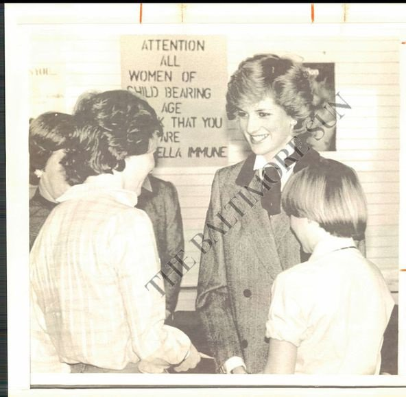 Princess Diana - Lisson Grove Health Centre , le 07 Mars 1984