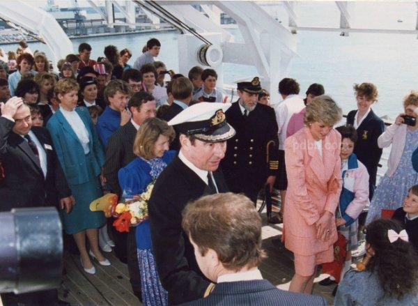 Le 29 avril 1987 -Princess Diana , Cunard's QEII Party