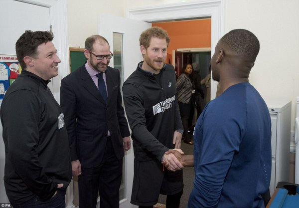 Prince Harry - The Running Charity 2017 , le 26 Janvier 2017