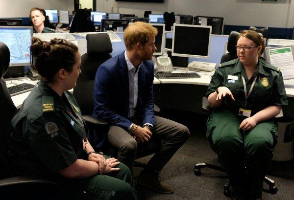 Prince Harry - the London Ambulance Service , le 2 février 2017