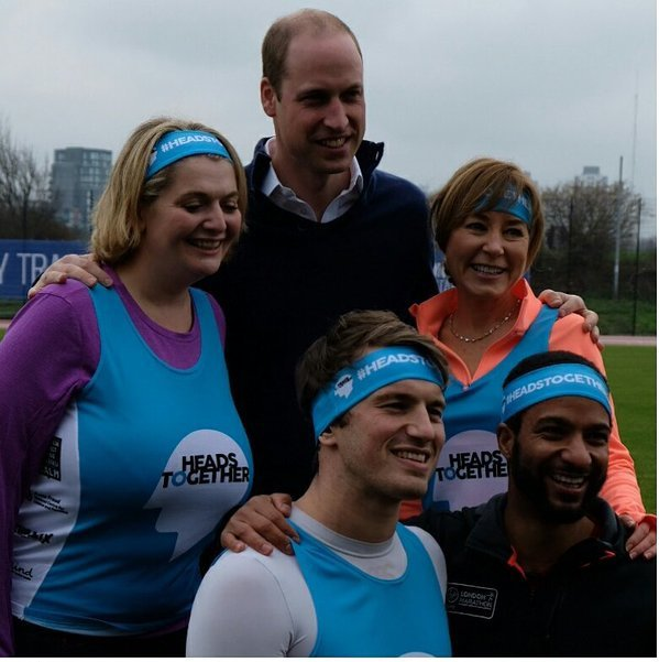William & Catherine et Harry - Team Heads Together London Marathon Training Day , le 05 Février 2017