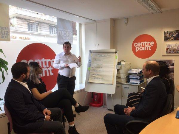 Prince William - Launch of Centrepoint Helpline , le 13 Février 2017