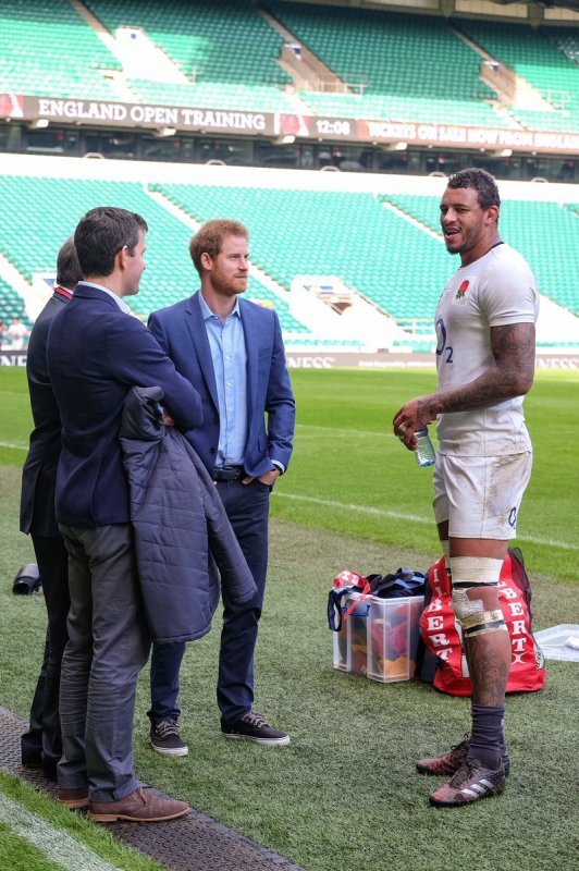 Prince Harry - the England Rugby Team Open Training Session , le 17 Février 2017