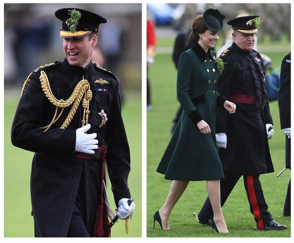 William & Catherine - Irish Guards' St Patrick's Day Parade , le 17 Mars 2017 _ Suite