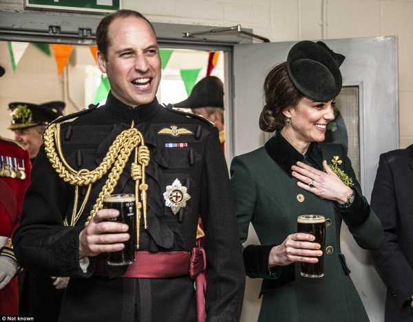 William & Catherine - Irish Guards' St Patrick's Day Parade , le 17 Mars 2017 _ Suite