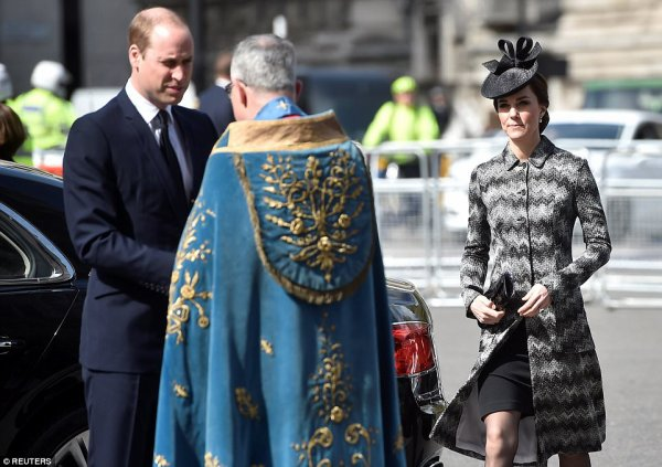William & Catherine et Harry - Service Of Hope Westminster Abbey , le 05 Avril 2017
