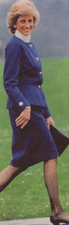Princess Diana - Riddlesworth Hall School ,le 25 Avril 1989