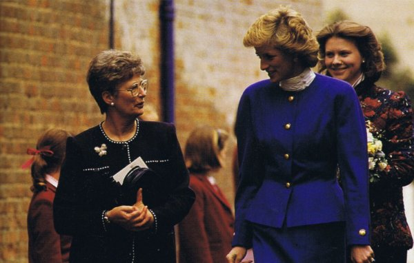Princess Diana - Riddlesworth Hall School ,le 25 Avril 1989