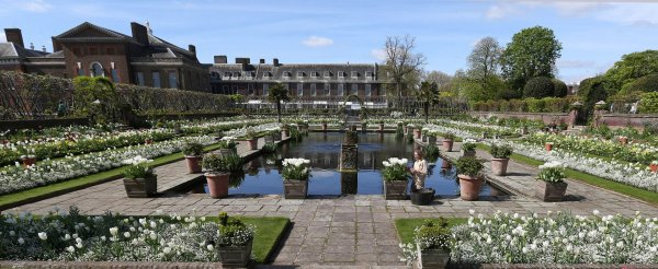 Princess Diana - The white garden à Kensington Palace Avril 2017