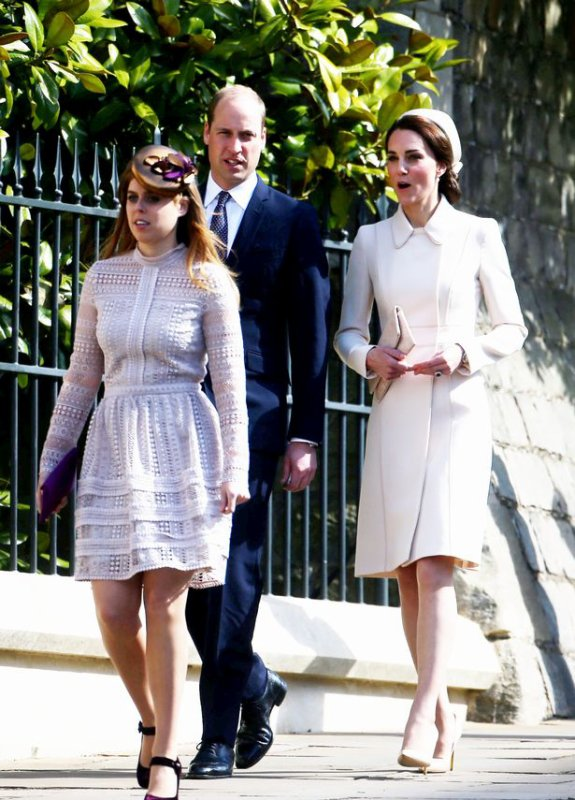 William & Catherine - Easter Day Service, le 16 Avril 2017
